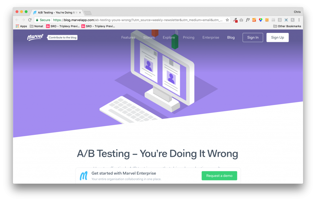 A/B testing article