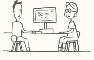 usability testing sketch